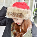 Winter wool hat Women add velvet thickening warm knit hat new style ear fur collar Fashion collar dual-use