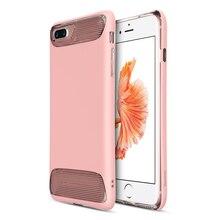 Baseus Ангел Серии 2 в 1 ШТ. + Силиконовый Противоударный Чехол Для iphone 7 Плюс Розовый