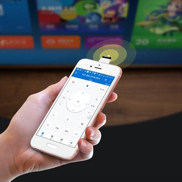2020 evrensel IR ev aletleri kablosuz kızılötesi uzaktan kumanda adaptörü OTG akıllı telefon (mikro USB ve tip c bağlantı noktası)