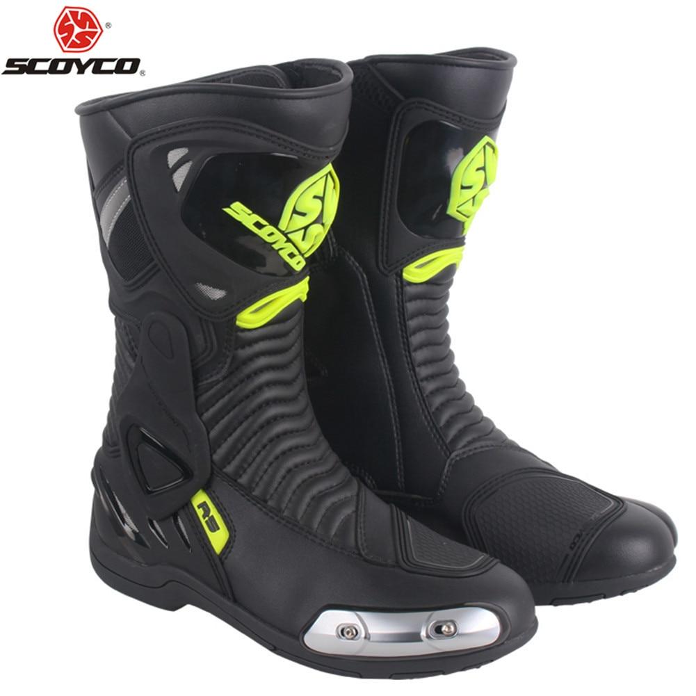 Scoyco Motorrad Stiefel Wasserdicht Leder Moto Stiefel Männer Motocross Stiefel Motorrad Schutz Motorrad Lange Oberschenkel Stiefel # Um Jeden Preis Motorrad-zubehör & Teile