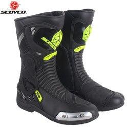 SCOYCO Biker Motorlaarzen Motorbike Motorboten Moto Schoenen Boot Motorfiets Motocross Mannen Botas Rijden Schoen Racing Laarzen