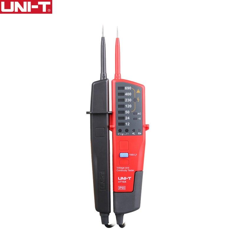UNI-T UT18A Voltmeter 690V AC DC ولتاژ سنج ولتاژ تست ضد آب قلم چراغ چراغ روشنایی چراغ روشنایی خودکار