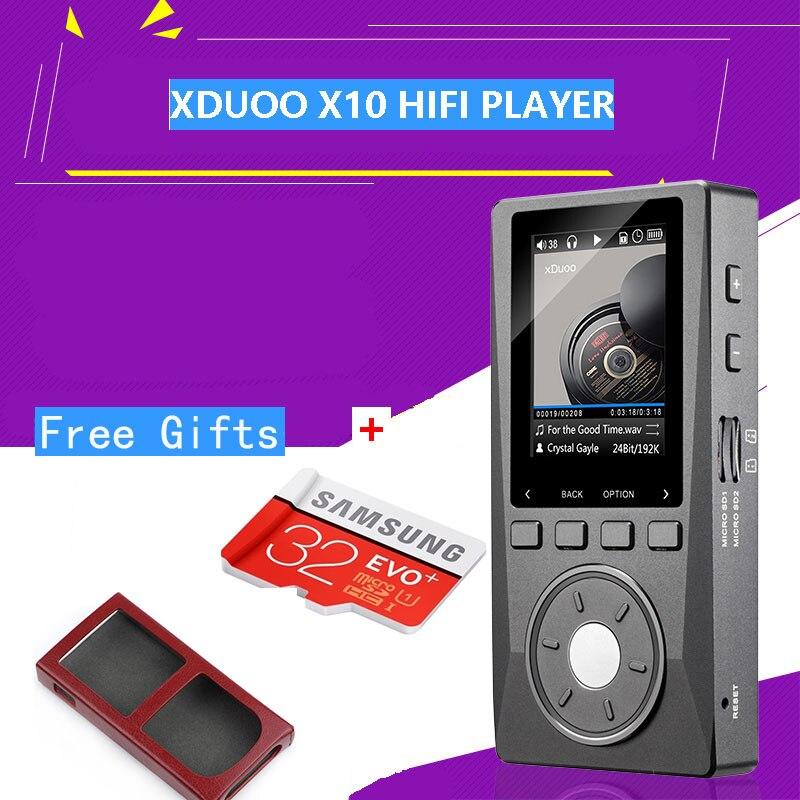 Xduoo X10 Портативный высокое Разрешение без потерь DSD музыка Hi-Fi плеер DAP Поддержка оптический Выход Betterthan xduoo X3 + бесплатная (TF + футляр)