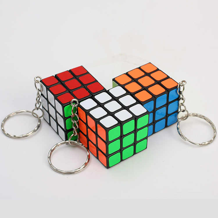 Magic Cubes Keychain 3x3x3 3CM Magic Cubes Pendant Twist Puzzle Toys for Children Gift Magic Cube