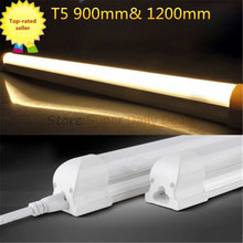 25pic/lot PVCT5 neon LED fluorescent Tube Light Lampada 90cm 120cm Integrated 0.9m 18W 1.2m 22W Light Lamp AC110V220V 240V White