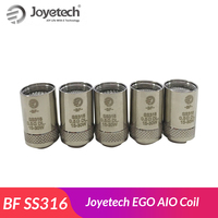 10pcs Original Joyetech BF SS316 Atomizer Head 0.5ohm/0.6 ohm/1.0ohm Replacement for CUBIS/EGO AIO Coil/Cuboid Mini Atomizer