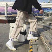 Fashion Vintage Joggers Pants 2019 Mens Streetwear Cargo Pants Male Hip hop Plaid Pants High Street Japan Spring Trousers Males