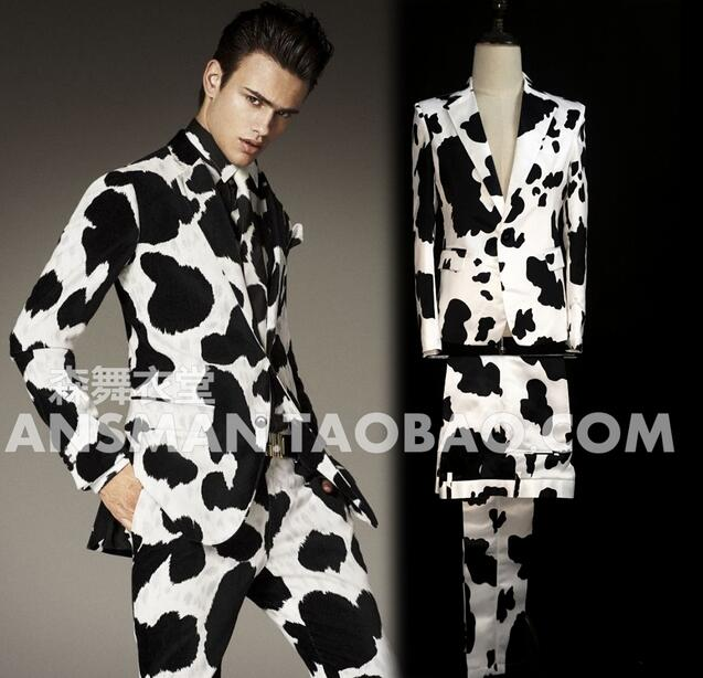 Men Suits Wedding Dress Singer Stage Dj Nightclub Guest The The Same Stlye Cow Suits Men Fashion Blazers Costumes S-5xl 2020