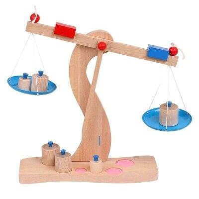 Balance en bois Balance enseignement de la physique et jouets