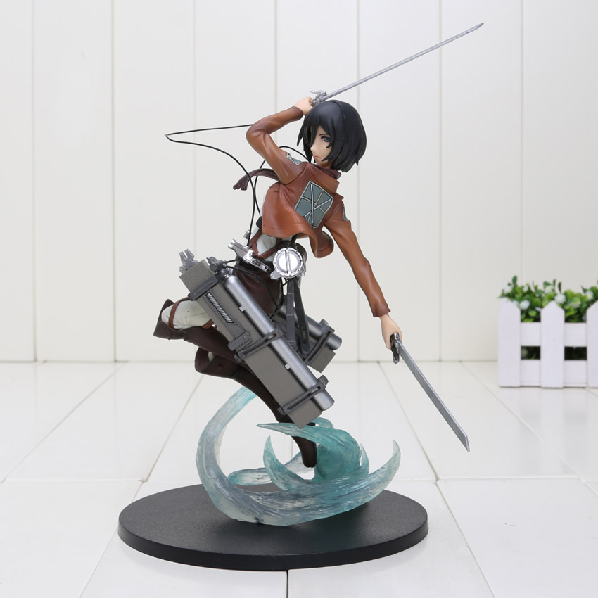 10'' Attack on Titan Ackerman 1/8 Complete PVC Action Figure Collectible Toy Attack on Titan Figure free shipping nylon steering rudder for rc boat height 28mm 36mm 44mm 52mm page 6