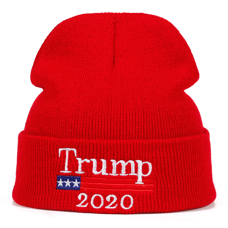 2020 Donald Trump Red Beanies Skullies Hat Re Election Keep America Great  Embroidery USA Flag MAGA New Cap Cotton winter hat-in Skullies   Beanies  from ... b8e64d5f7420