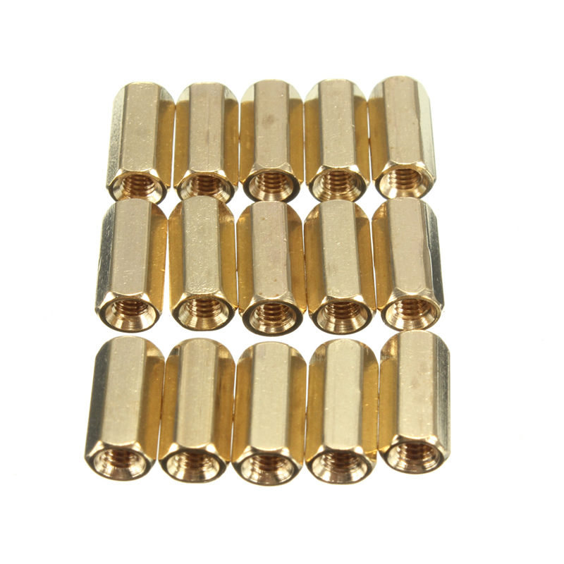 100pcs Copper Alloy M3 10mm Hexagonal Net Nut Female Brass