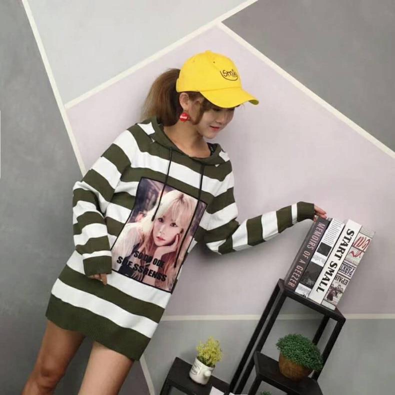 Chandail De Capuche Robe Femelle Automne Green Dans Paragraphe Le Base À Coréenne Nouvelle Long Jupe Version Pink Tricot En noir Longues Manches Et army Hiver L'arc wYqHrUqxIz