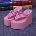 Сверхвысоких Туфли На Платформе Розовый Клинья Розовый Тонг Сандалии Летние Противоскользящие Пляжные Сандалии Женщин Открытый Тапочки Willow Valley