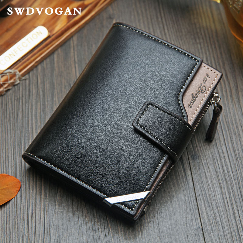 Man Purses Wallets Credit Card Wallet For Men Purse Luxury PU Leather Wallet Male Purse For Coins Zipper Bag Carteira Masculina double zipper men clutch bags high quality pu leather wallet man new brand wallets male long wallets purses carteira masculina