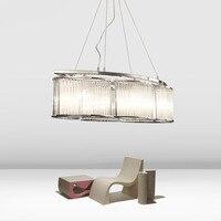 Z Post Modern Crystal Glass Rod Lamp Northern Europe Luxurious Livingroom Bedroom Pendant Lamp Originality Restaurant