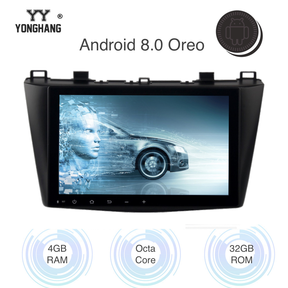 9 Android 8.0/7.1 1 din Car Radio for Mazda 3 2010 2011 2012 Multimedia Built-in Wifi Bluetooth GPS Mirrorlink Headunit image