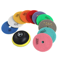 11Pcs Set Diamond Polishing Pads Granite Marble Concrete Stone Grinding Discs 3 4