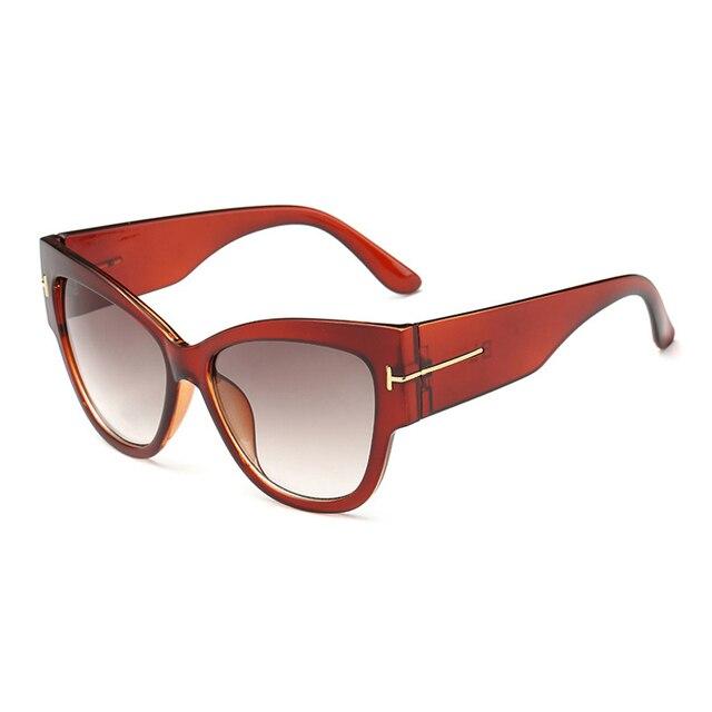 2016 New Fashion Cat Eye tf Sunglasses Women Brand Designer Vintage Luxury Street Snap Sun Glasses retro De Sol Feminino Gafas 4