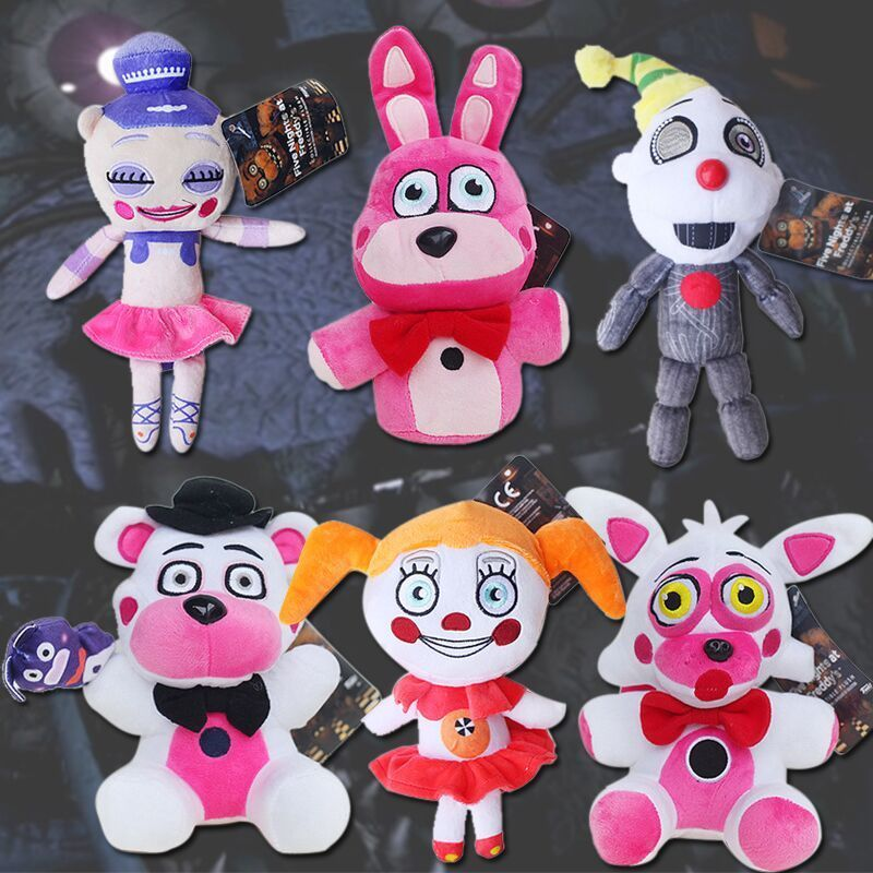 FNAF Plush Toy Five Nights At Freddys Sister Location Circus Baby Ballora Ennard Funtime Foxy Freddy Plush Doll Collectible Toy
