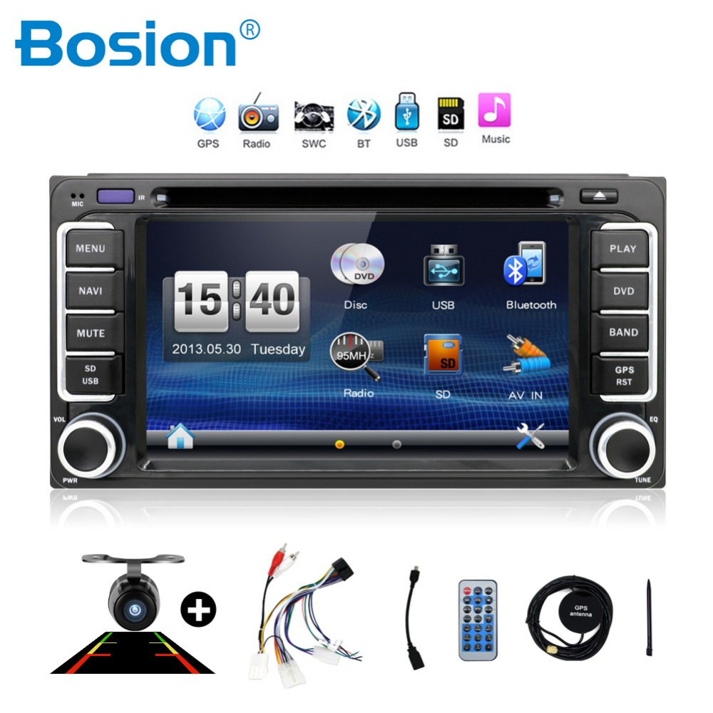 2 din universal touch screen car dvd player for Toyota Hilux VIOS Camry Corolla Prado RAV4