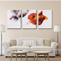 3 Set Hand Painted Abstract Twin Flower Oil Painting On Canvas Modern Wall Art Wall Painting For Living Room Home Decor Painting