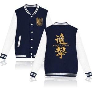 Image 5 - 2020 обувь для косплея по аниме «атака на Титанов» аниме бейсбольная куртка уличная пальто повседневный спортивный костюм мужские пальто и куртки размера плюс, одежда для мальчиков