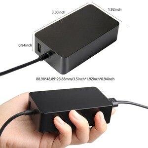Image 4 - Nouveau chargeur Portable 15V 4A 65W adaptateur secteur pour Microsoft Surface Pro 4 tablette pour Surface Book alimentation avec Port USB 5V