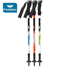 Pioneer Telescopic Trekking Poles Carbon Fiber Hiking Stick Non-slip Ultralight Nordic Walking Poles Adjustable Alpenstock цена в Москве и Питере