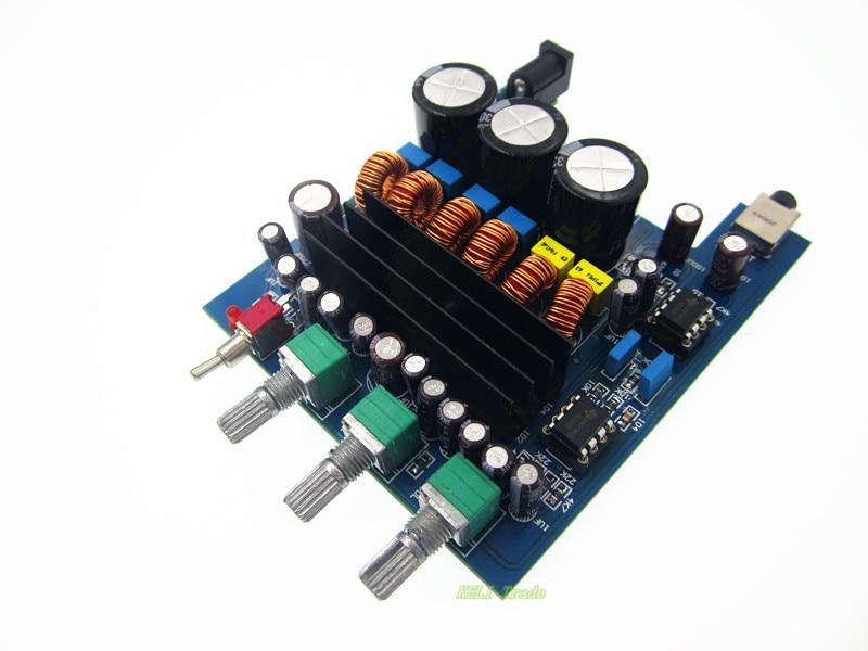 E74 2.1 High-Power Power Amplifier 50w+50W+100W HIFI Digital Subwoofer Amplifier Verst Board TPA3116 tpa3116d2 2 1 high power amplifier subwoofer digital power amplifier board aluminum amplifier chassis