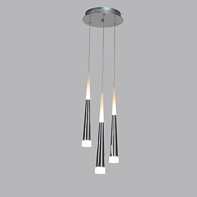 Acrylic Hanging Modern LED Pendant Light Lamp With 3 Lights For Dining Room, Lamparas Lustres E Pendente De Sala Teto hghomeart children room iron aircraft pendant light led 110v 220v e14 led lamp boy pendant lights for dining room modern hanging