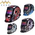 NUEVA Solar oscurecimiento automático de soldadura de protección máscaras fresco sombreros de soldadura soldadura Mig Tig Arco Tapa Máscara Campana Los colores barato cascos