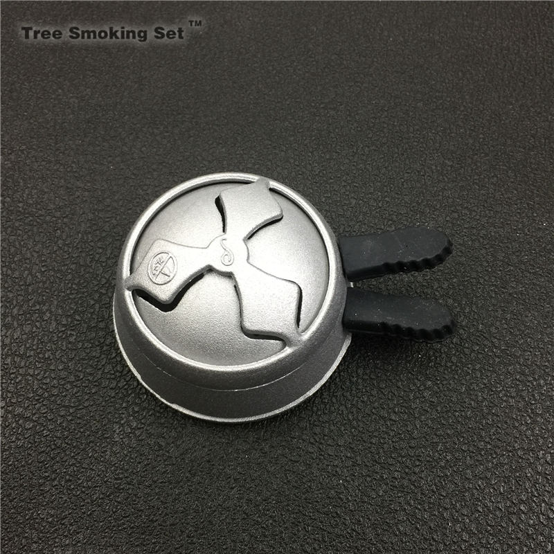 1pcs Tobacco Bowl & Black Charcoal Holder Single Handle Set For Shisha / Hookah / Sheesha /Chicha / Narguile double two handle