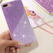 Cyato Rhombic Glitter Lattice Phone Case For Apple iPhone X 8 7 6S 6 Plus 5 5S 5C SE Luxurious Capa Soft TPU Back Cover Cases