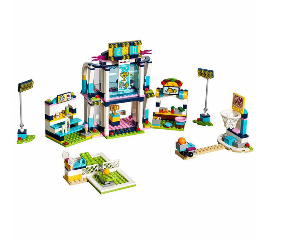 Lepin Friends For Girl Series Building Blocks Toy 01061 Stephanie's Sports Arena Children DIY Educational Brick Toys building blocks stick diy lepin toy plastic intelligence magic sticks toy creativity educational learningtoys for children gift page 2