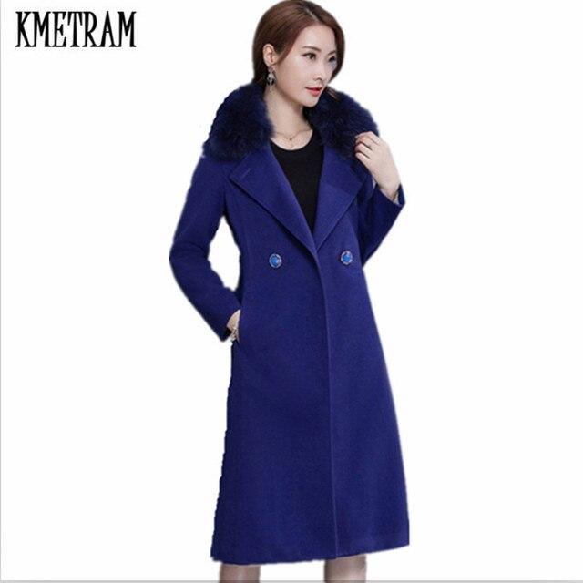 Manteau d'hiver femme fourrure