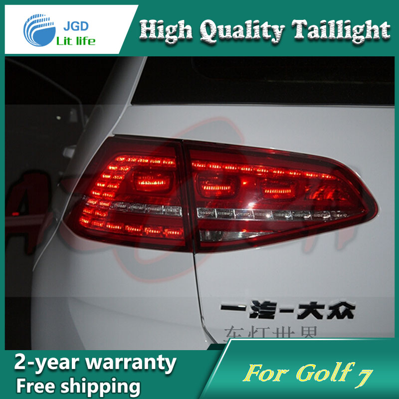 Car Styling Tail Lamp for VW Golf 7 Golf7 2013 2014 Tail Lights LED Tail Light Rear Lamp LED DRL+Brake+Park+Signal Stop Lamp car styling tail lamp for toyota corolla led tail light 2014 2016 new altis led rear lamp led drl brake park signal stop lamp