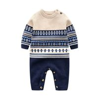 baby boy winter clothes Cotton knitted gentleman casual crawl handsome sweater toddler christmas newborn romper ropa de bebe