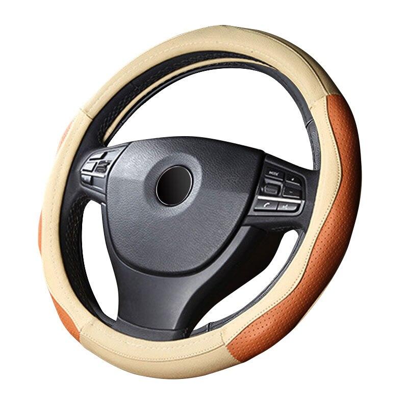 GLCC крышка рулевого колеса автомобиля из натуральной кожи 38 см безвкусно Four Seasons универсальный чехол на руль удобные и прочные ...