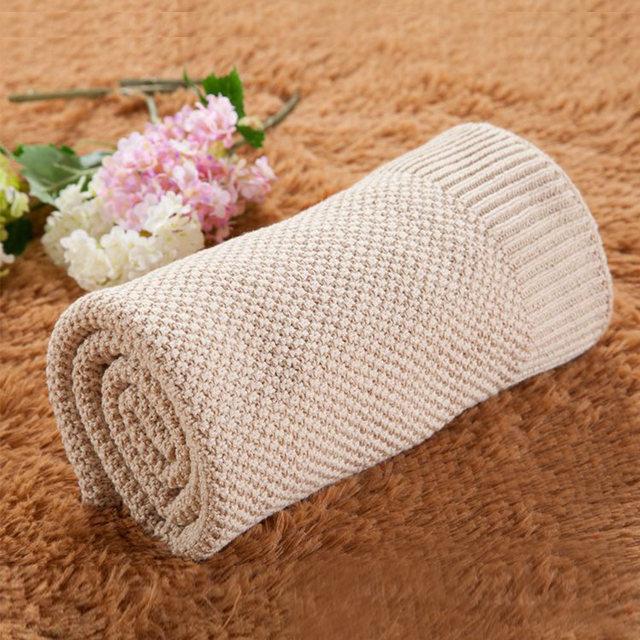 0ac9a142d1b0 Best Girl Boy Soft Baby Blanket Infant Swaddle Pure Color Cotton ...