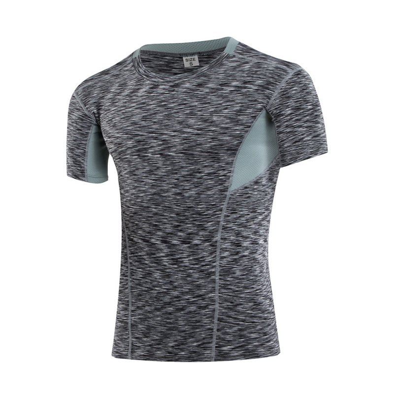 Mens T-Shirts Running Tights Compression Under Base Layer Fast Dry Sports Elastic Compression T-Shirt Tops