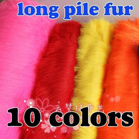 """Long Pile Fur Stoff Faux Fur Stoff Kostymer Cosplay Fotografering Bakgrunner Photo Rekvisitter 60 """"bred solgt av gården Gratis frakt"""