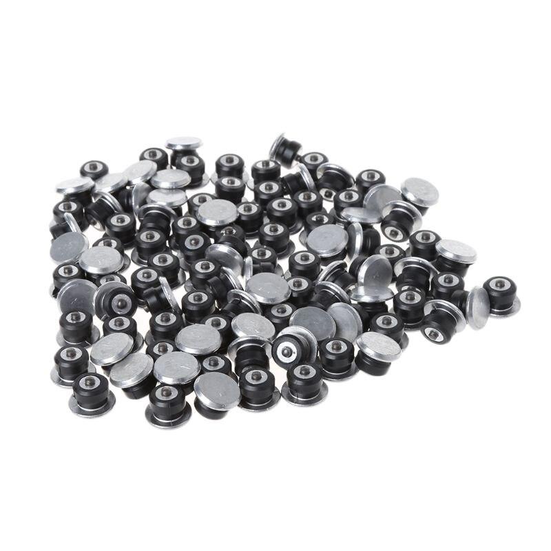 100 piezas de neumáticos antideslizantes de la manga de los pernos de los tornillos de los tacos de los clavos de la rueda de protección del invierno