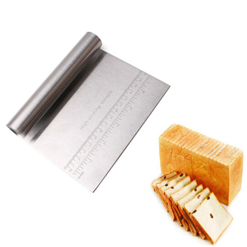 Stainless Steel Patisserie Pizza Dough Scraper Cutter Kitchen <font><b>Tool</b></font> Cozinha Baking Pastry <font><b>Spatulas</b></font> Cooking <font><b>Cake</b></font> <font><b>Decorating</b></font> <font><b>Tools</b></font> image