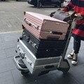 """Equipaje marco De Aluminio PC TAS Hardside spinner Metal esquinas caso maleta de ruedas maleta Del bolso Del Equipaje trolley de viaje con ruedas de 24 """"26"""""""