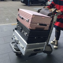 """Luggage PC Aluminum frame TAS Hardside spinner Metal corners travel trolley case rolling Luggage bag suitcase with wheels 24""""26"""""""