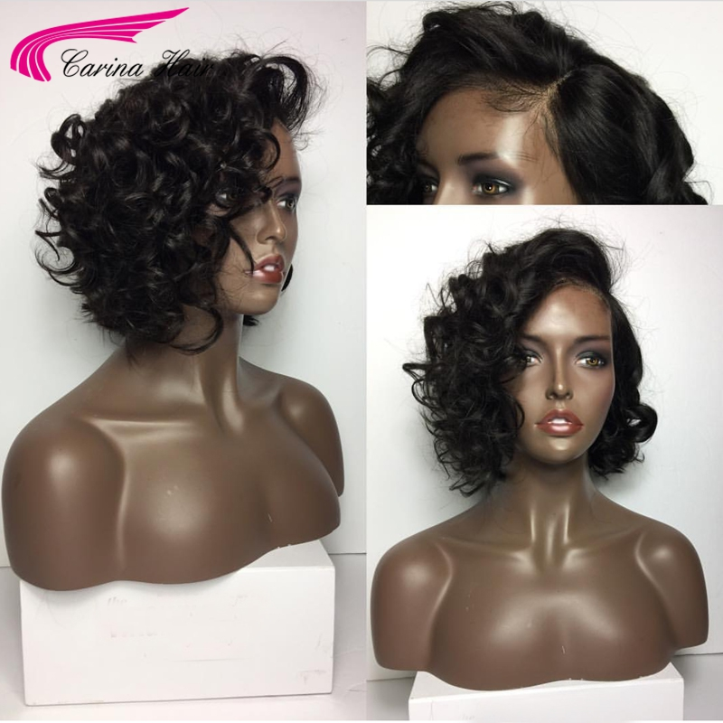 Carina Loose Wave Lace Front Wigs with Baby Hair Malaysian Remy Human Hair Pre-Plucked Hairline Side Part