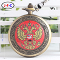 Tourism souvenir foreign friends gift table Flag of Russia iconic mechanical pocket watch  B105