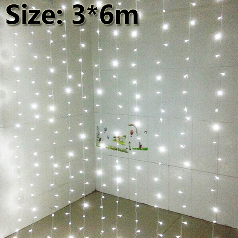 3x6m led curtain backdrop lights led fairy lights Christmas lamps Icicle Lights Xmas Wedding Party decoration 2017