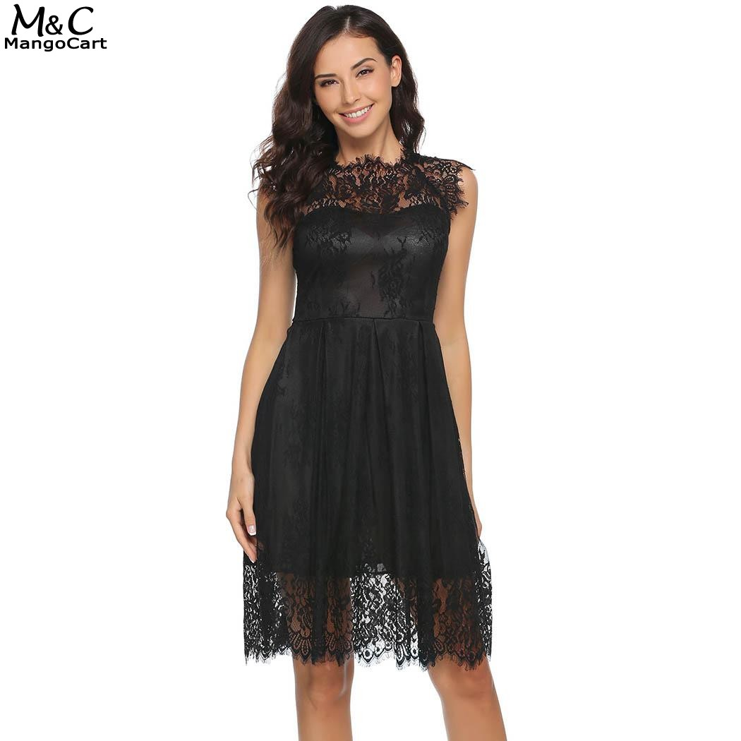 Women Dress 2017 Summer Sexy Lace Party Dresses Women O-Neck Short Cap Sleeve Lace Vestidos Mujer Floral A-Line Dress robe femme